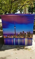 City of Toronto Utility Box After Wrap