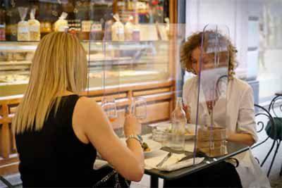 Plexiglass Sneeze Guards & Shields For Restaurants