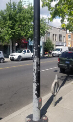 Junction Toronto Pole Wrap Before